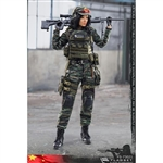 Flagset Chinese Snow Leopard Commando Unit Female Sniper (F73021)