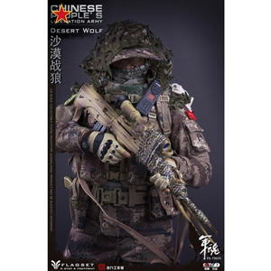 Flagset Chinese People's Liberation Army Desert Wolf (F73025)