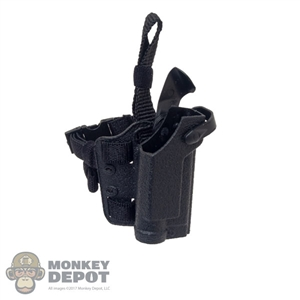 Holster: Flagset Black Drop-Leg Pistol Holster