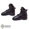 Boots: Flagset Mens Black Tactical Boots