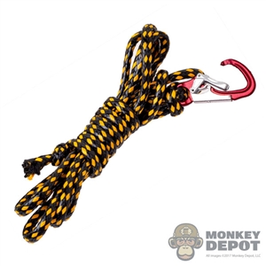 Rope: Flagset Black & Yellow Rope w/Carabiner