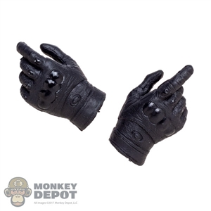 Hands: Flagset Mens Black Molded Tactical Glove Hands