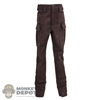 Pants: Flagset Mens Brown Pants (Aged)