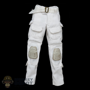 Pants: Flagset Female White Tactical Pants w/Belt