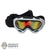 Goggles: Flagset White Snow Mask