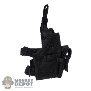Holster: Flagset Black Drop Leg Pistol Holster