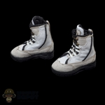 Boots: Flagset Female White & Black Tactical Boots