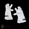 Gloves: Flagset Female White Finger Mittens