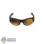 Glasses: Flagset Wild Mens Gold Tinted Sunglasses
