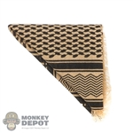 Scarf: Flagset Black & Tan Shemagh
