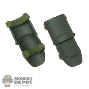Pads: Flagset Mens Green Molded Knee Pads