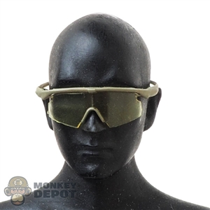 Glasses: Flagset Mens Yellow Tinted Sunglasses