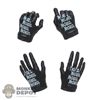 Hands: Flagset Female Black Molded Gloved Hand Set