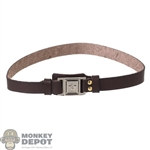 Belt: Flagset Brown Leather-Like PLA Belt