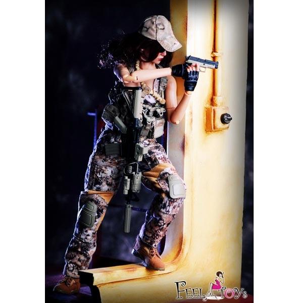 Viper Camo Female Shirt Female Commando 1//6 Scale Feel Toys Action Figures