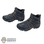Boots: GWG Black Weathered Molded Shoes