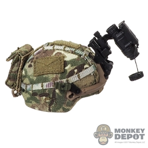 Helmet: GWG Mens VIRTUS w/MTP Cover + AN/PVS-14 NVG + Counterbalance Weight Pouch