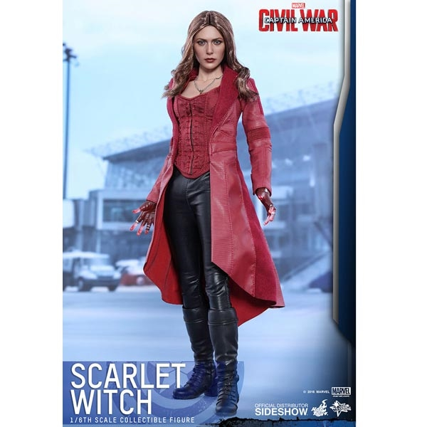 1//6 scale Captain America Scarlet Witch Head Sculpt ZY TOYS Red Hair Head Model