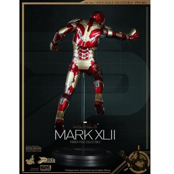 Hot Toys Iron man Mk 42 power pose 1//6th figure 902017