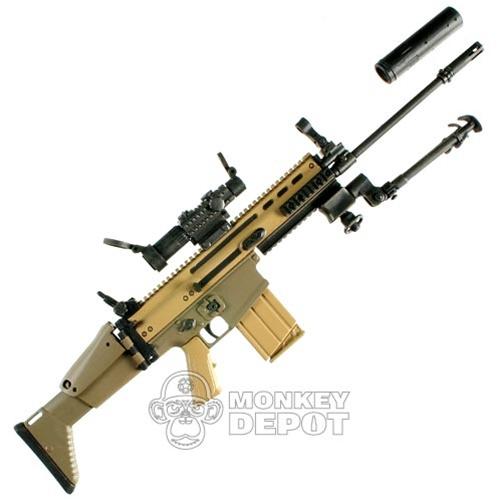 Rifle: Hot Toys SCAR H w/Bipod, Silencer