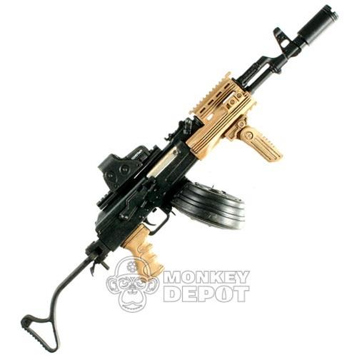 Rifle: Hot Toys AKM w/Drum Mag, EO Tech