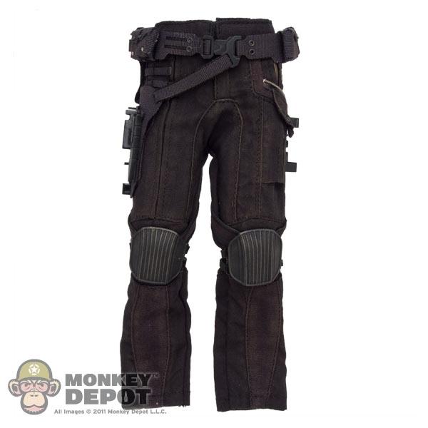 e97c83db55e7d Monkey Depot - Pants  Hot Toys Black Winter Tactical Pants w Belt ...