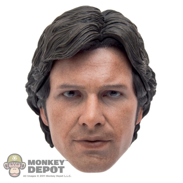 Head Hot Toys Han Solo W Removable Hair