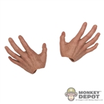 Hands: Hot Toys Darker Skin Tone Grasping (No Wrist Pegs)