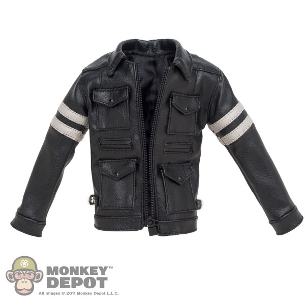 4a69cb468b8 Monkey Depot - Coat  Hot Toys Black Leather Jacket