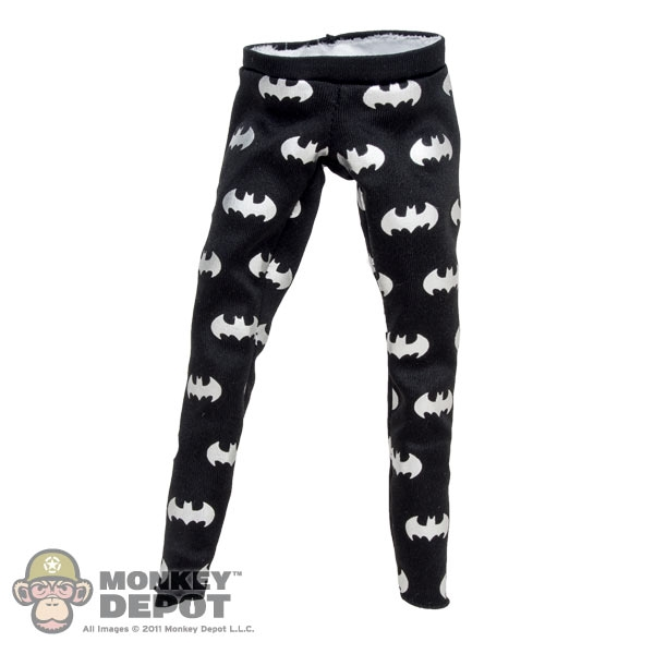 b74f59ac1ebf Monkey Depot - Pants: Hot Toys Black Leggings w/Batman Logo