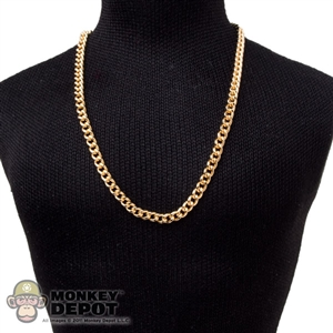 Necklace: Hot Toys Mens Gold Thin Necklace #1 (Metal)