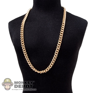 Necklace: Hot Toys Mens Gold Thin Necklace #2 (Metal)