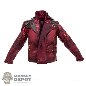 Coat: Hot Toys Star-Lord Red Leather Jacket