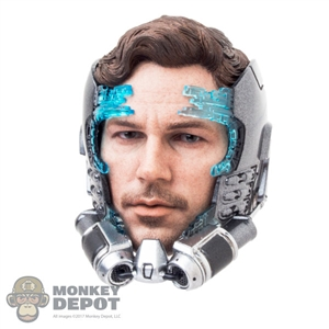 Helmet: Hot Toys Star-Lord Helmet in Activating Mode