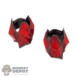 Pads: Hot Toys Arkham Knight Batman Red Elbow Armor