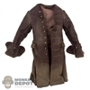 Jacket: Hot Toys Brown Dark Brown Long Jacket