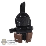 Holster: Hot Toys Black Drop-Leg Pistol Holster w/Pouches (Right)