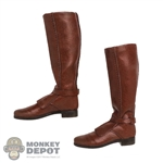 Boots: Hot Toys Obi-Wan Brown Leather-Like Boots