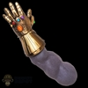 Arm: Hot Toys Infinity War Thanos Left Arm w/LED Gauntlet + Infinity Stones