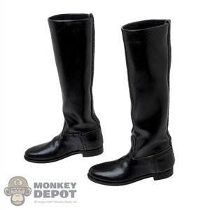 Boots: Hot Toys Mens Tall Black Leather-Like Boots