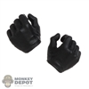 Hands: Hot Toys Mens Black Molded Holding Grip