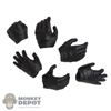 Hands: Hot Toys Mens Black Molded Hand Set