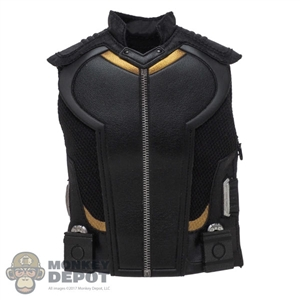 Vest: Hot Toys Black Leather-Like Sleeveless Vest