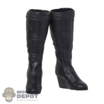 Boots: Hot Toys Black Widow Platform Boots (Female)
