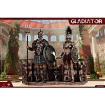 HY Toys Empire Legion-Empire Gladiator,Imperial Female Warrior Set of Black (HY-HH18018)