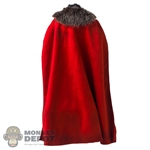 Cape: HY Toys Mens Red Cloak w/Fur