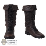Boots: HY Toys Mens Brown Molded Boots