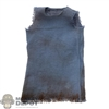 Top: HY Toys Mens Blue Sleeveless Shirt (Dirty)