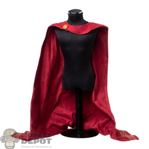 Cape: HY Toys Mens Red Hoodless Cloak