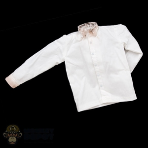 Shirt: Inflames White Shirt w/Dirty/Weathered Collar & Wrist